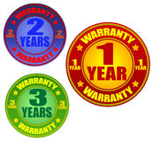 Warranty labels Royalty Free Stock Images