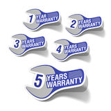 Warranty labels Royalty Free Stock Image