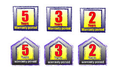 Warranty labels Royalty Free Stock Photography