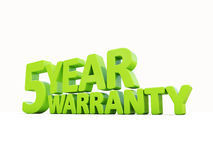 Warranty. The phrase Warranty on а white background Royalty Free Stock Images