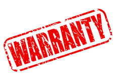WARRANTY red stamp text Royalty Free Stock Photography