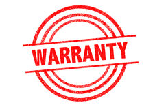 WARRANTY Rubber Stamp Stock Images