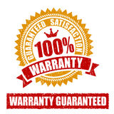 Warranty Rubber Stamp. 100 Percent Warranty Rubber Stamp Stock Image