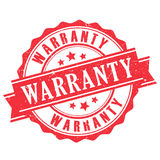 Warranty rubber stamp. Vector illustration Stock Photography