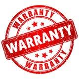 Warranty rubber vector stamp Stock Photos