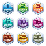 Warranty Seal. Colorful Warranty Seal Metal Badges Royalty Free Stock Image