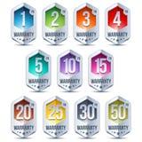 Warranty Seal Hexagon Chrome Badge Stock Photos
