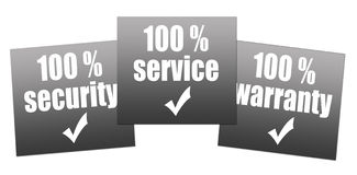 Warranty, service, security Royalty Free Stock Photos