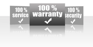 Warranty, service, security Royalty Free Stock Photo