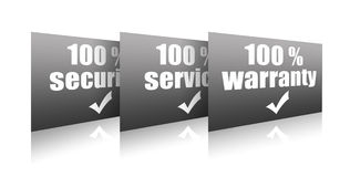 Warranty, service, security. Collection of stamps Stock Photography