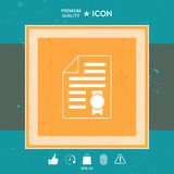 Warranty sheet of paper with a medal. Icon. Graphic element for your design vector illustration