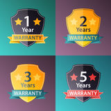 Warranty signs set in halftone texture style Stock Photo