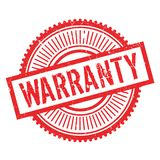 Warranty stamp rubber grunge Royalty Free Stock Image