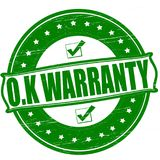 Warranty. Stamp with word warranty inside, ilustration royalty free illustration