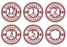 Warranty stamps Stock Images