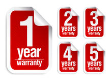 Warranty stickers set Royalty Free Stock Photos