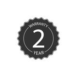 Warranty two year badge. Royalty Free Stock Photo