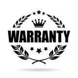 Warranty vector icon. Isolated on white background Royalty Free Stock Image