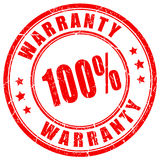 Warranty vector rubber stamp Stock Images