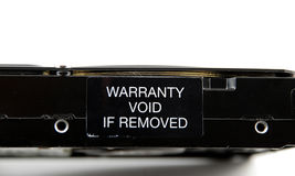 Warranty void. Stock pictures of a warranty void label Stock Photography