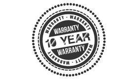 Warranty 10 year. Icon stamp stock illustration