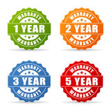 Warranty year star icon. Warranty years star icons set Royalty Free Stock Photos