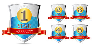 Warranty 1, 2, 3, 4, 5 years Royalty Free Stock Image