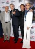 Warren Beatty, Johnny Hallyday and Laeticia Hallyday Royalty Free Stock Photos