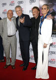 Warren Beatty, Johnny Hallyday and Laeticia Hallyday. At the AFI FEST 2016 Opening Night Premiere of `Rules Don`t Apply` held at the TCL Chinese Theatre in Royalty Free Stock Photo