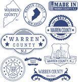 Warren county, NJ, generic stamps and signs Royalty Free Stock Image