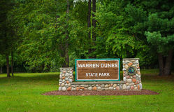 Warren Dunes State Park Sign Stock Photo