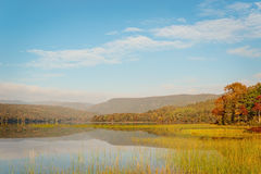 Warren lake in the fall Royalty Free Stock Images