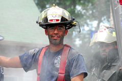 Warren Rhode Island Firefighter Royalty Free Stock Photo