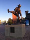 Warren Spahn Statue Turner Field Atlanta, GUMMIN Royaltyfri Foto