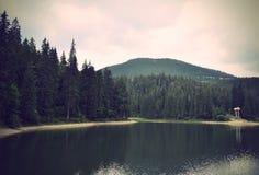 Warren Synevyr Mountain Lake dans le carpathien, Ukraine images stock