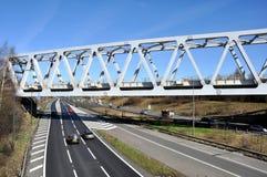 Warren Truss Type Railway Bridge Imagen de archivo libre de regalías