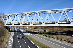 Warren Truss Type Railway Bridge royalty free stock image