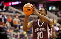 Men's CIS Basketball Finals. Warren Ward in action for the Ottawa Gee-Gees in their match against Lakehead Thunderwolves at Scotiabank Place, Ottawa on March 9 stock photos
