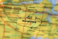 Warrensburg, miasto w U S obraz stock