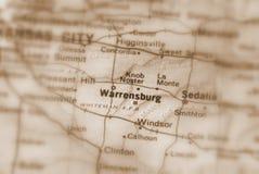 Warrensburg, miasto w U S obraz royalty free