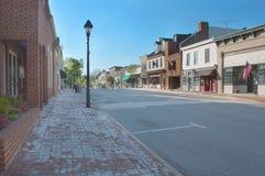 Warrenton Virginia, gammal stad Arkivbild