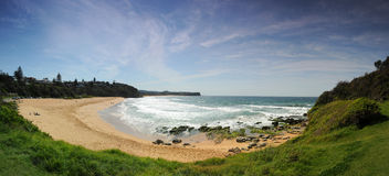 Warriewood Beach. Panorama or Warriewood Beach on Sydney's Northern Beaches Stock Photography