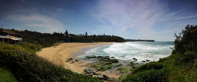 Warriewood Beach. Panorama or Warriewood Beach on Sydney's Northern Beaches Royalty Free Stock Photos