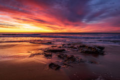 Warriewood strandsoluppgång Royaltyfria Foton
