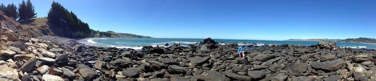 Warrington Beach. Beautiful rocks in Warrington Beach , Dunedin, New Zealand royalty free stock image