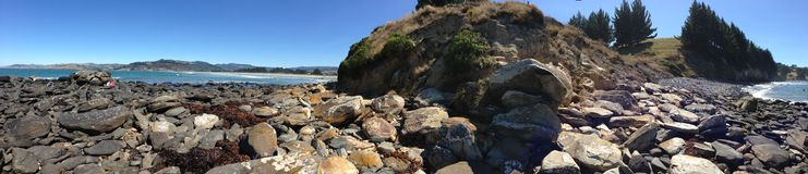 Warrington Beach. Beautiful and scenic Warrington Beach in Dunedin, New Zealand Stock Photography