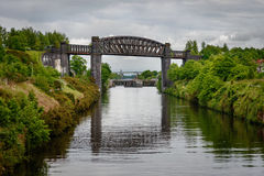 Warrington Viaduct. The Thelwall Viaduct is a steel composite girder viaduct in Lymm, Warrington, England Royalty Free Stock Photos