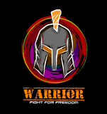 Warrior. Amazing Character. the character of warrior helmet. 100% vector and easily edited. Great, Powerfull, Fighter, Masculine, elegant Royalty Free Stock Images