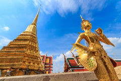 Warrior Angel. The characters in literature, Thailand Temple of the Emerald Buddha . Or commonly known as the Temple of the Emerald Buddha in Bangkok and stock images