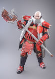 Warrior in the Armor with Axe Stock Image